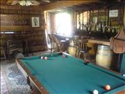 The saloon/game room