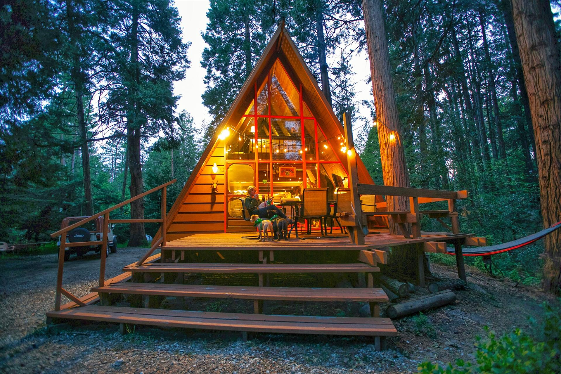 Idyllcreek A Frame Cabin Vacation Rental Cabins In