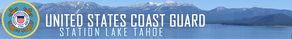Coast Guard Lake Tahoe Aframes Logo